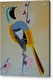 Bird Print Acrylic Print by Julia Wilcox