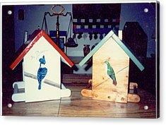 Birdfeeders Acrylic Print