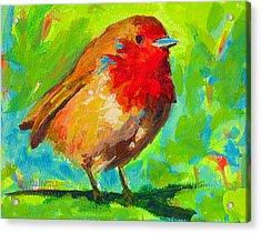 Birdie Bird - Robin Acrylic Print