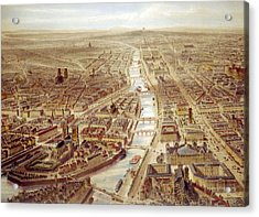 Birds-eye View Above The St. Gervais Acrylic Print by Everett