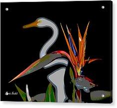 Birds In My Paradise... Acrylic Print