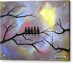 Acrylic Print featuring the painting Birds Of A Feather by Stacey Zimmerman