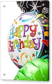 Birthday Balloons Acrylic Print by Tom Gowanlock