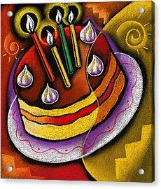 Birthday  Cake  Acrylic Print by Leon Zernitsky