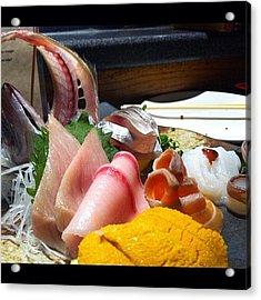 Birthday Sashimi! #iphoneography Acrylic Print