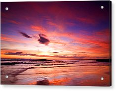 Birubi Point Sunset Acrylic Print