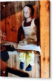 Bisque Doll Acrylic Print by Susan Savad