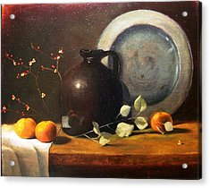 Bittersweet And Molasses Jug Acrylic Print by Tom Jennerwein