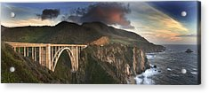 Bixby Bridge Sunset Acrylic Print