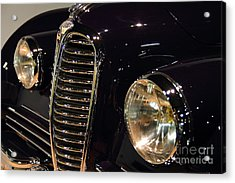 Black 1948 Delahaye . Grille View Acrylic Print by Wingsdomain Art and Photography
