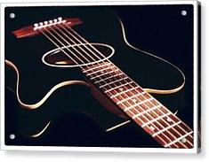 Black Acoustic Guitar Acrylic Print