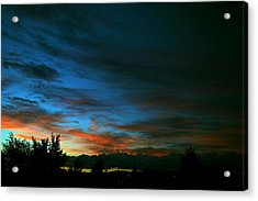 Black And Blue Acrylic Print by Kevin Bone