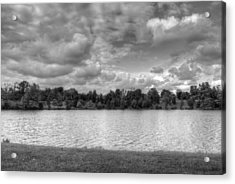 Acrylic Print featuring the photograph Black And White Autumn Day by Michael Frank Jr