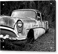 Black And White Buick Acrylic Print by Steve McKinzie
