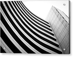 Black And White Building Curve Shape  Acrylic Print by Kittipan Boonsopit