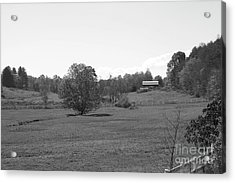 Acrylic Print featuring the photograph Black And White Country Fields by Michael Waters