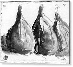 Black And White Fig Study Acrylic Print by Suzanne Jenne