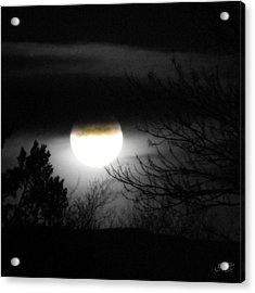 Acrylic Print featuring the photograph Black And White Full Moon by Michelle Frizzell-Thompson