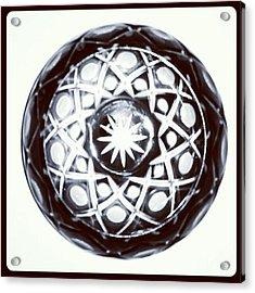 Black And White Glass Bowl. #glass Acrylic Print