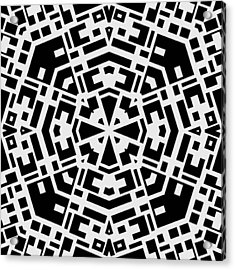 Black And White Kaleidoscope Acrylic Print by David G Paul
