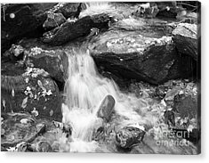 Acrylic Print featuring the photograph Black And White Mini Waterfall by Michael Waters