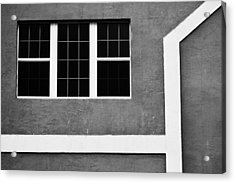 Black And White Side Of Building  Acrylic Print by Anya Brewley schultheiss