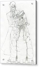 Black Butler Fan Art Acrylic Print by Ashley Rommel