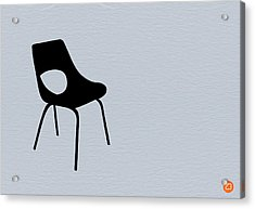 Black Chair Acrylic Print by Naxart Studio