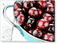 Black Cherries Acrylic Print by Stephanie Frey
