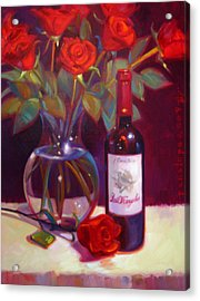 Black Cherry Bouquet Acrylic Print by Penelope Moore