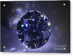 Black Diamond Acrylic Print by Atiketta Sangasaeng