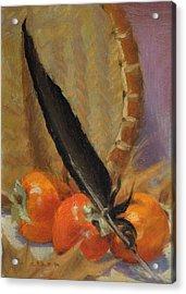 Black Feather Acrylic Print