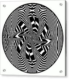 Acrylic Print featuring the digital art Black Flower by Visual Artist Frank Bonilla
