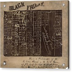 Black Friday Gold Prices, 1869 Acrylic Print by Library Of Congress