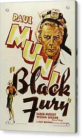 Black Fury, Paul Muni, 1935 Acrylic Print