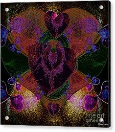 Black Heart Color Acrylic Print