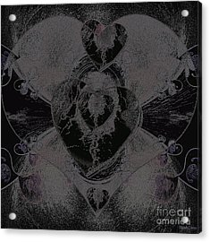 Black Heart Acrylic Print
