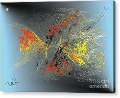 Acrylic Print featuring the digital art Black Hole IIi by Leo Symon