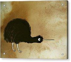 Black Kiwi Acrylic Print by Asok Mukhopadhyay