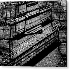 Fire Escape With Shadow Detail Acrylic Print