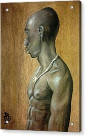 Black Man Acrylic Print by Baraa Absi