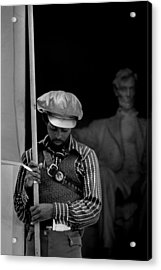 Black Panther Convention, A Man Acrylic Print by Everett