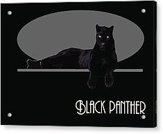 Black Panther  Acrylic Print by Quim Abella