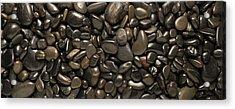 Black River Stones Landscape Acrylic Print by Steve Gadomski