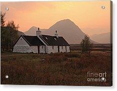 Black Rock Cottage Sunset Acrylic Print