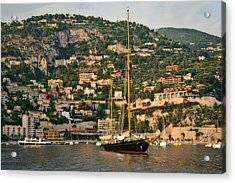 Black Sailboat Acrylic Print by Steven Sparks