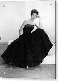 Black Summer Dress Acrylic Print by Kurt Hutton