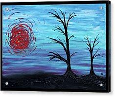 Black Trees Acrylic Print by Erik Tanghe