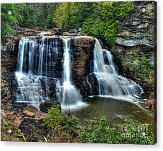 Acrylic Print featuring the photograph Black Water Falls by Mark Dodd