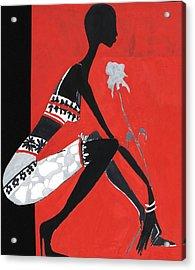 Black Woman Acrylic Print by Maya Manolova